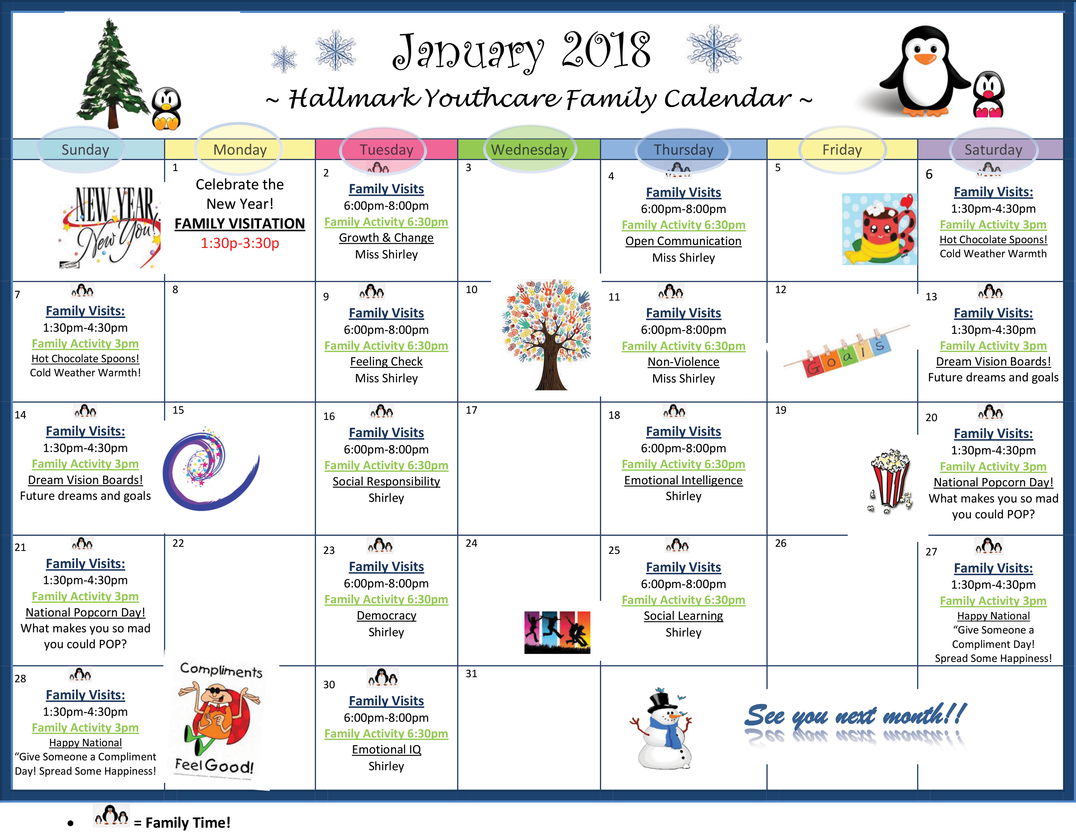 january 2018 family calendar hallmark youth care